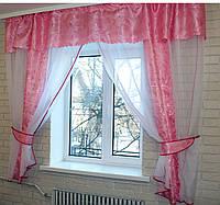 Кухонная занавесь, шторки гардина с подвязками е220