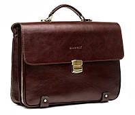 Мужской кожаный портфель Blamont Bn044R коричневый
