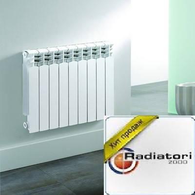 Радиатор алюминиевый отопления (батарея) 500x10 Radiatori (боковое подключение), фото 2