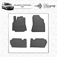 Коврики резиновые в салон Peugeot Partner с 2008 (4шт) Stingray 1003014