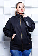 Женская черная кофта   Натали   ТМ Таtiana 52-56  размеры