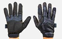 Перчатки тактические с закрытыми пальцами MECHANIX MPACT (р-р M-XL, черный), фото 1