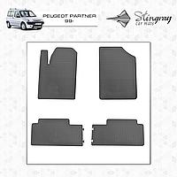 Коврики резиновые в салон Peugeot Partner с 1999 (4шт) Stingray 1003024