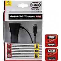Автомобильная зарядка Heyner 511500 MicroUSB провод+USB  1A