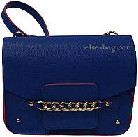 Синяя женская сумочка с цепочкой