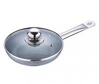 Сковородка Bergner 24см с крышкой гранитное покрытие