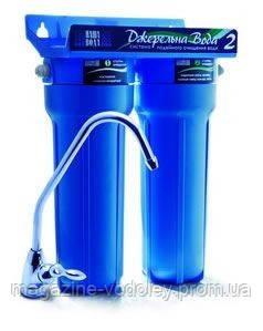 Двухступенчатая система очистки воды проточного типа