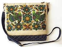 Женская джинсовая стеганная сумочка Весна, фото 1