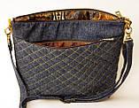 Жіноча джинсова стьобаний сумочка Весна, фото 3