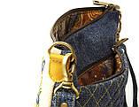 Жіноча джинсова стьобаний сумочка Весна, фото 4