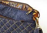 Жіноча джинсова стьобаний сумочка Весна, фото 5