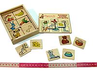 Игра Половинки ассоциации Кто что ест Розумний лис (90043), фото 1