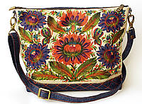 Женская джинсовая стеганная сумочка Астры, фото 1