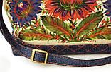 Женская джинсовая стеганная сумочка Астры, фото 3