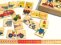 Игра Половинки Транспорт Розумний лис (90023), фото 1