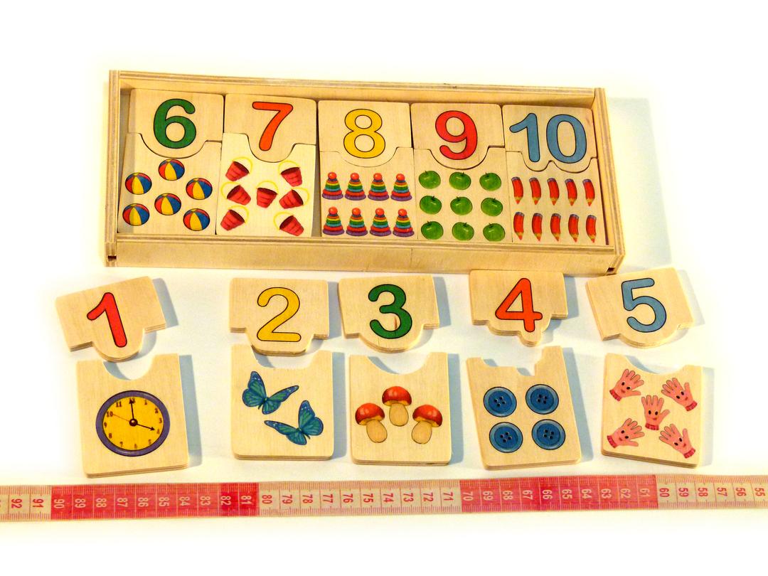 Деревянная игрушка Половинки «Цифры от 1 до 10», Розумний Лис (90011)