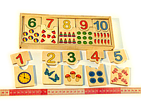 Деревянная игрушка Половинки «Цифры от 1 до 10», Розумний Лис (90011), фото 1