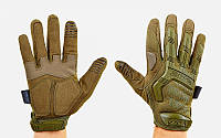 Перчатки тактические с закрытыми пальцами MECHANIX MPACT (р-р M-XL, оливковый)