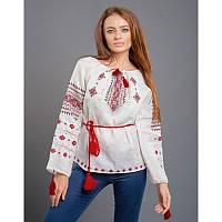 """Женская блузка, вышиванка """"Ніжність"""" льняная  размеров   42, 44, 46 48, 50 белого цвета ручная вышивка"""