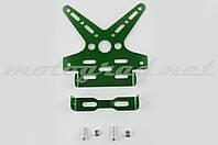 """Рамка для крепления номера и поворотников с регулируемым углом наклона  (зеленая) """"XJB"""""""