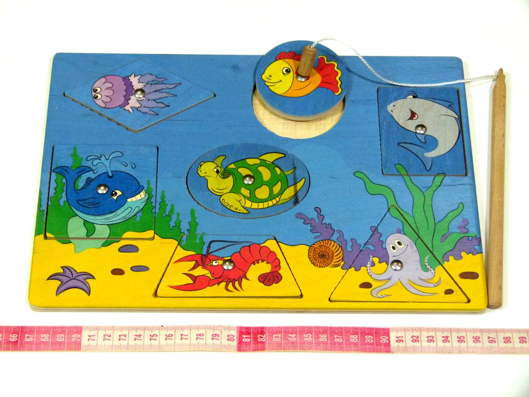 Деревянная игрушка Рыбалка Геометрические фигуры Розумний лис (90029)