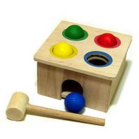 Деревянная игрушка Стучалка Квадрат ТМ Розумний лис