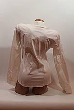 Женские однотонные рубашки (хлопок+ликра) ML norma odnot. белый, фото 3