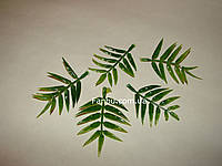 Добавка-ажурный лист зеленый к искусственным букетам, h-7 см (1уп.-5 штук)