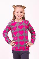 Свитшот детский для девочки Сердце, фото 1