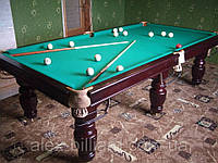 """Бильярдный стол """"Buffalo"""" 9футов бу после полной реставрации на ардезии. Бильярд русский с полным комплектом."""