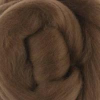 Шерсть мериноса топс Италия DHG 18мкм - цвет орех