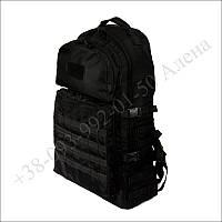 Тактический рюкзак 60 литров черный для военных, туристов, рыбалки кордура