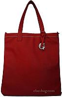 Женская сумка планшет красная