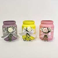 Набор из 3 ароматизированных свечей ручной работы.