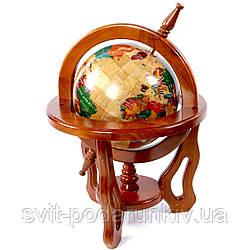 Глобус сувенир подарочный 220 мм из дерева CB0014
