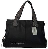 Черная сумка с серыми ручками, фото 1