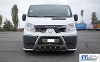 Защита переднего бампера Ø51 для Renault Trafic II 2001-2014