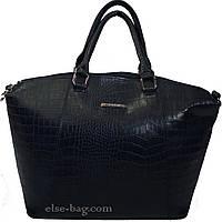 Синяя сумка под крокодил