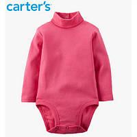 Гольф-боди розового цвета с длинным рукавом, Carters (235g163), девочка