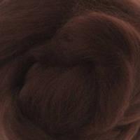 Шерсть мериноса топс Италия DHG 18мкм - цвет шоколад