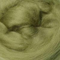 Шерсть мериноса топс Италия DHG 18мкм - цвет спаржа