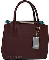 Женская сумка из эко кожи двухцветная
