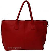 Большая красная женская сумка