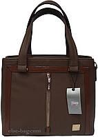 Женская сумка на два отдела кофейная