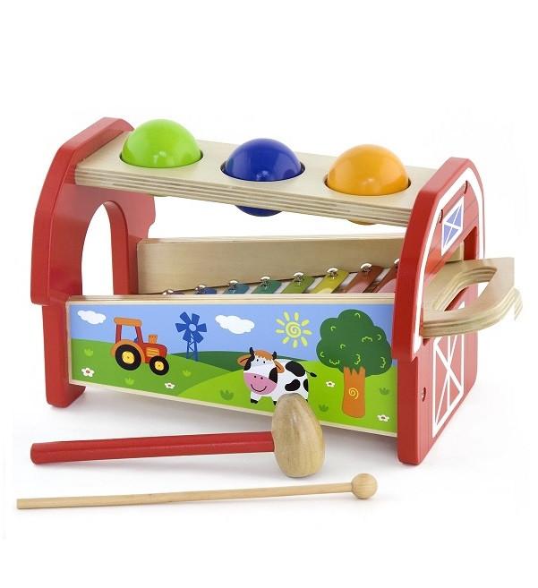 Дитячий музичний інструмент «Viga Toys» (50348) ксилофон 2 в 1