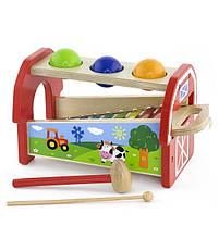 Детский музыкальный инструмент «Viga Toys» (50348) ксилофон 2 в 1