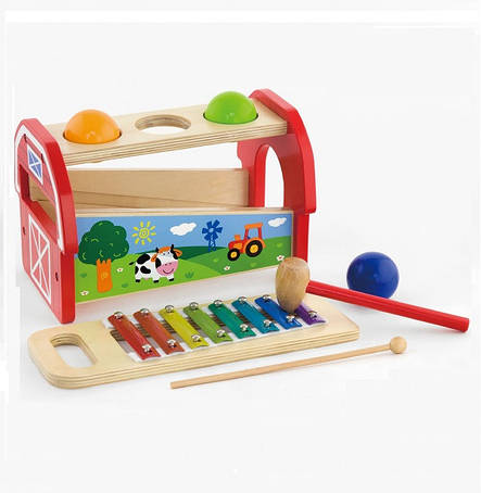 Дитячий музичний інструмент «Viga Toys» (50348) ксилофон 2 в 1, фото 2