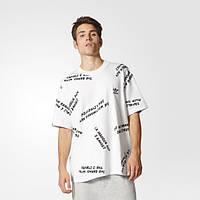 Повседневная футболка для мужчин adidas NYC Graffiti Print BJ9935 - 2017