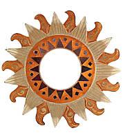 """Зеркало настенное мозаичное """"Солнце """" (d-30 cм)"""