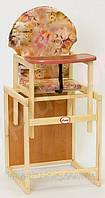 Детский деревянный стульчик стул для кормления,Vivast-TDN